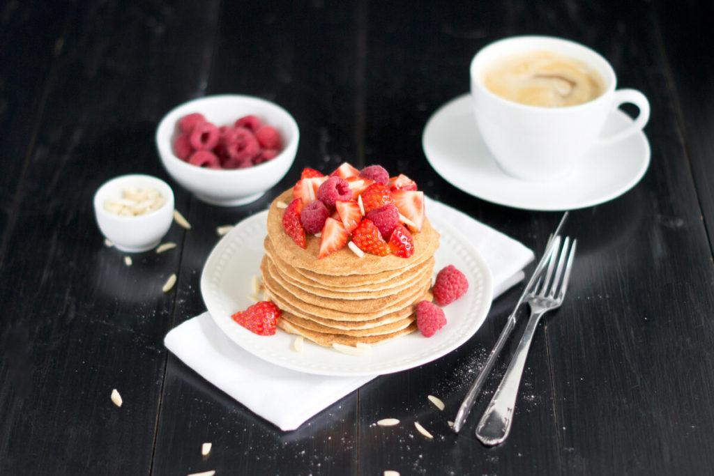 Low-Carb-Pancakes-mit Mandelmehl-Meal-Prep
