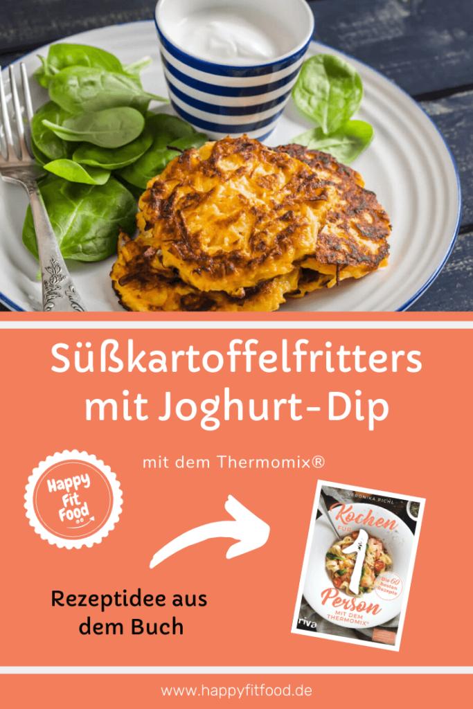 Süßkartoffel Fritters mit leckerem Joghurt-Dip Rezept zubereitet mit dem Thermomix®