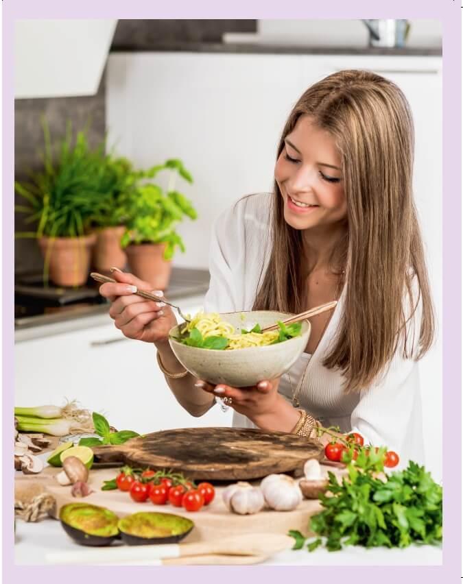 Bianca Zapatka Autorin von Vegan Foodporn Zubereitung Nudeln