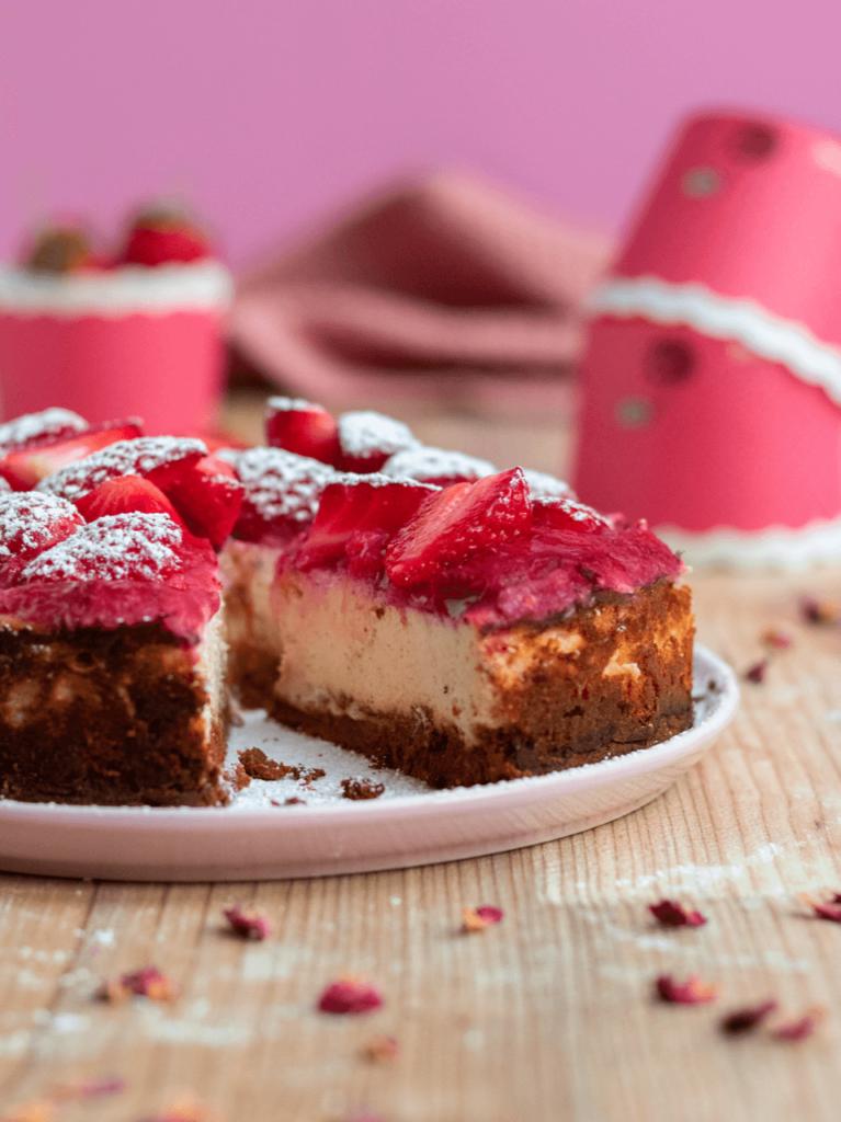 Erdbeer-Protein Cheesecake-Vanessas-Gymfood