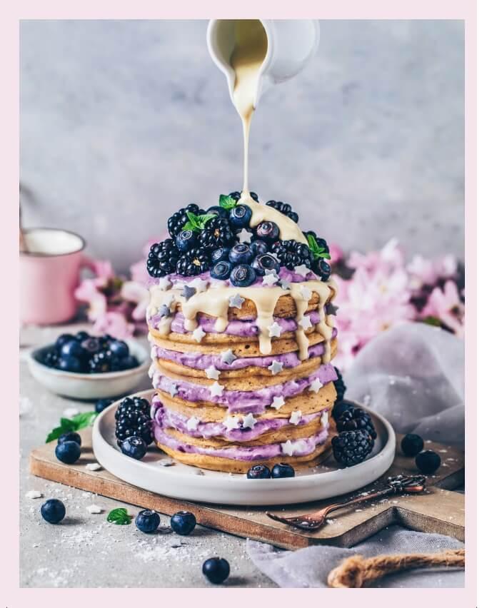Pancakes Turm Foto aus Vegan Foodporn von Bianca Zapatka