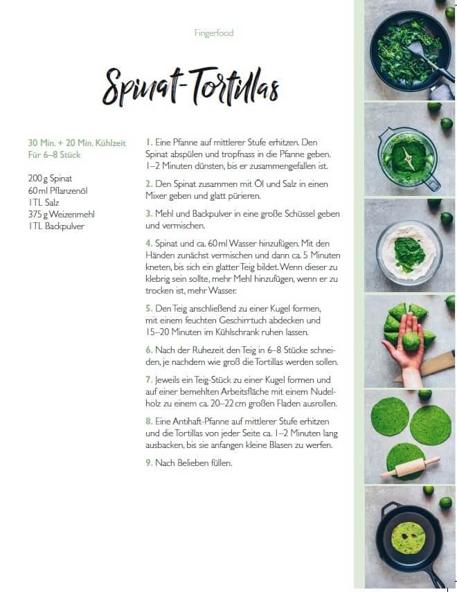 Spinat Tortillas Rezept aus Vegan Foodporn von Bianca Zapatka