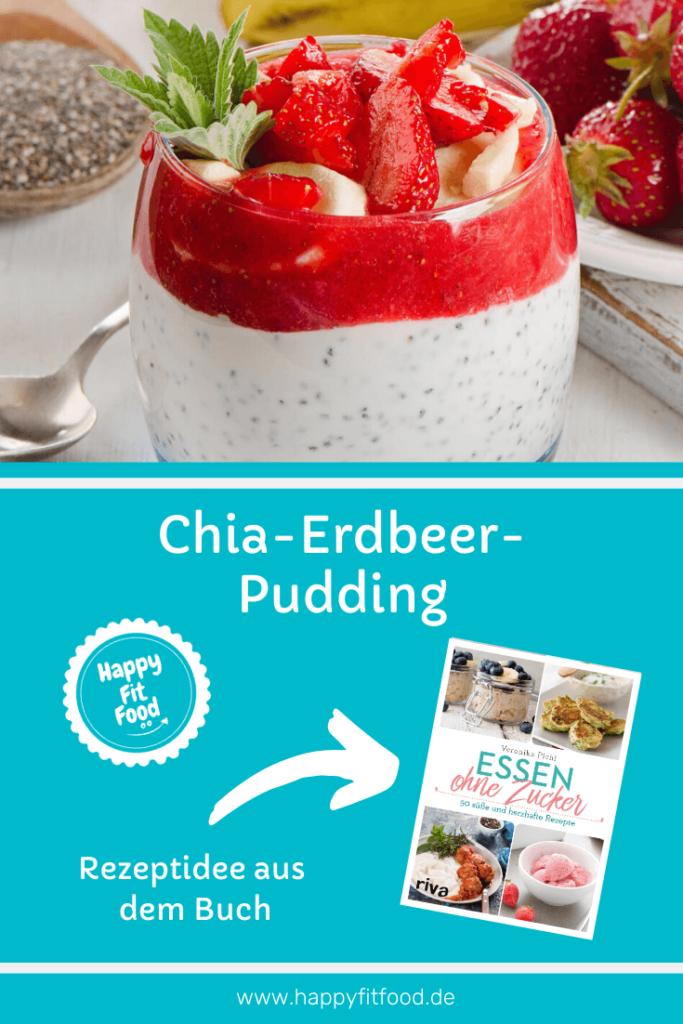 Chia Erdbeer Pudding, zuckerfrei und low carb, aus Essen ohne Zucker von Veronika Pichl