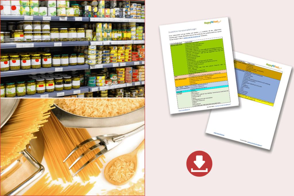 Kochen mit dem Grundvorrat Krisenvorrat Liste herunterladen hilfreiche Downloads