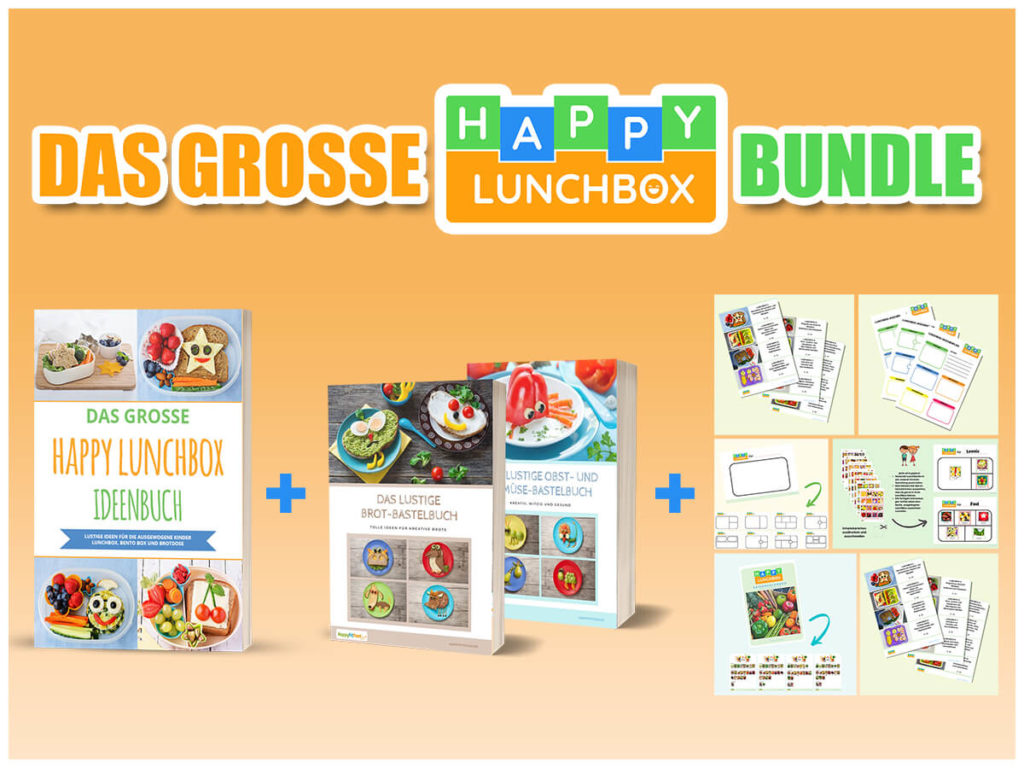 Happy Lunchbox Bundle für Kinder Pausenbrotideen