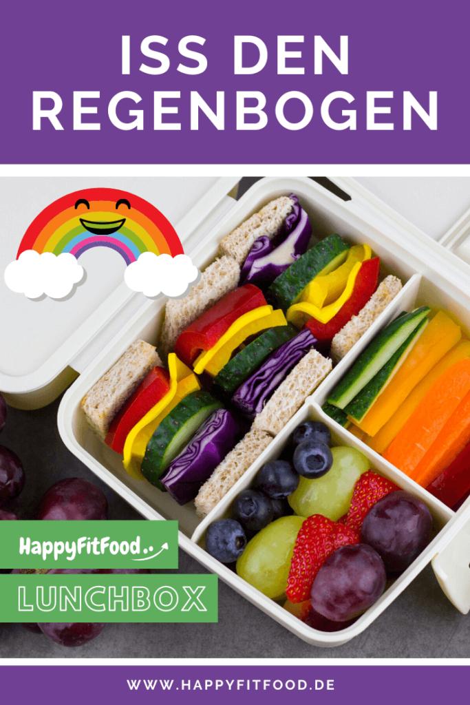 Den Regenbogen essen to go Die Regenbogen Lunchbox für Arbeit, Uni und Schule