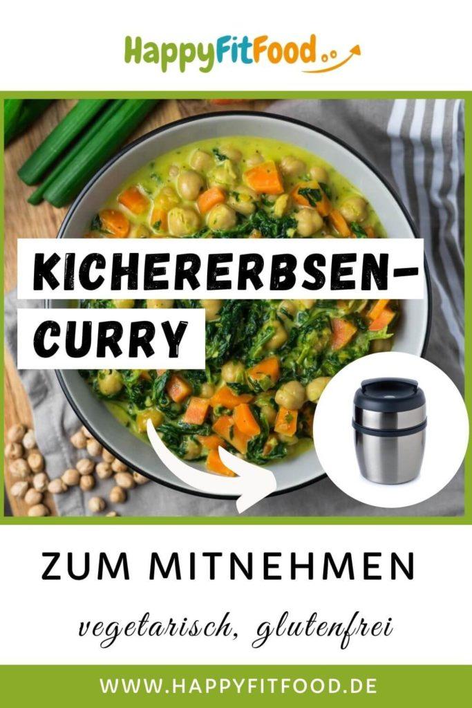 Kichererbsen Curry Rezept vegetarisch und glutenfrei PIN