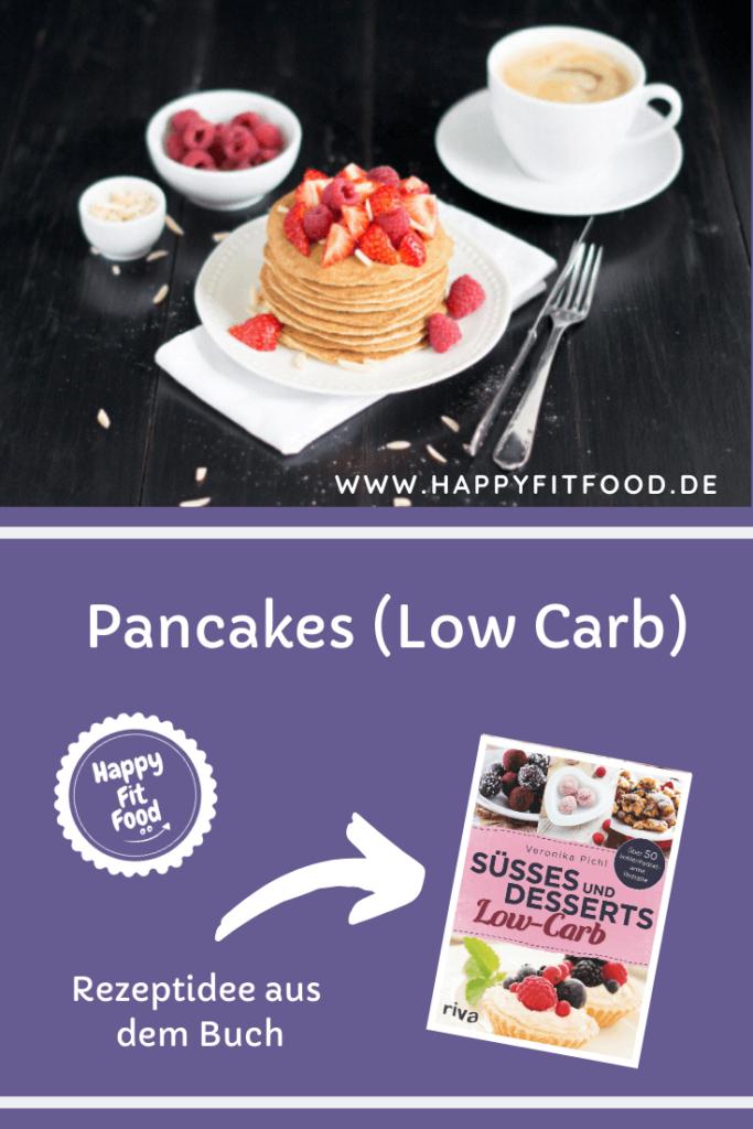 Low Carb Pancakes mit Mandelmehl Rezept ohne Zucker zuckerfreie Pancakes