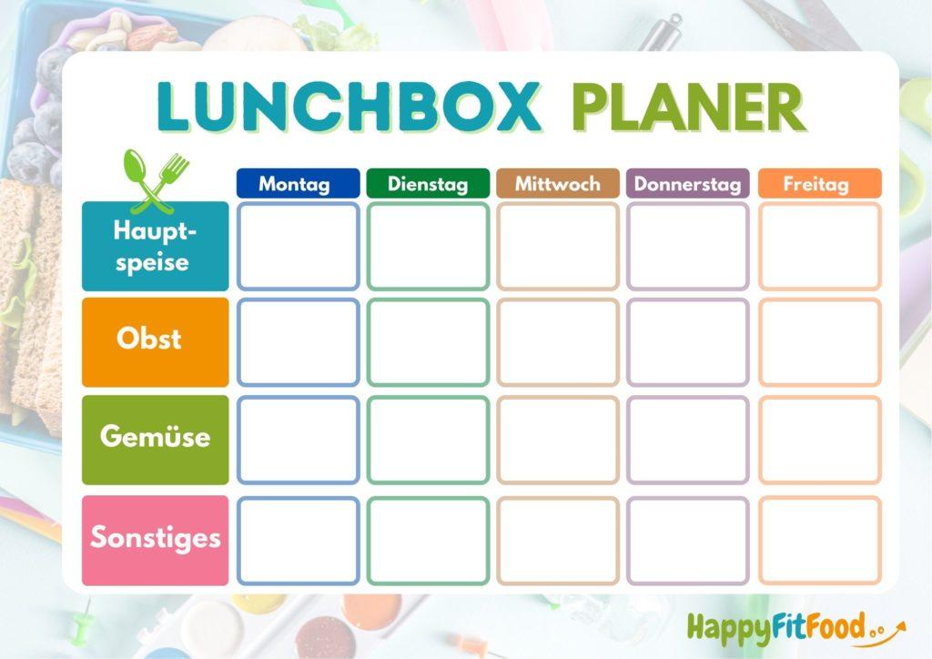 Lunchbox Pausendosen Schulessen Planer