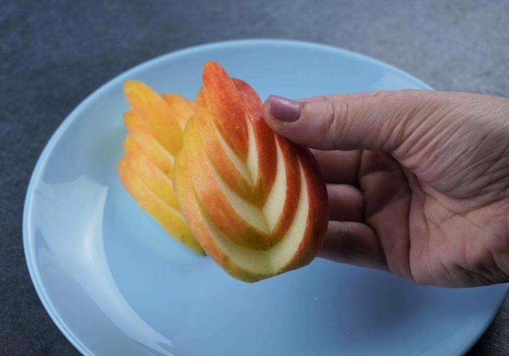 Apfel Fächer schneiden wie Apfel Blatt für Kinder Brotdose, Bento Box, Partybuffet