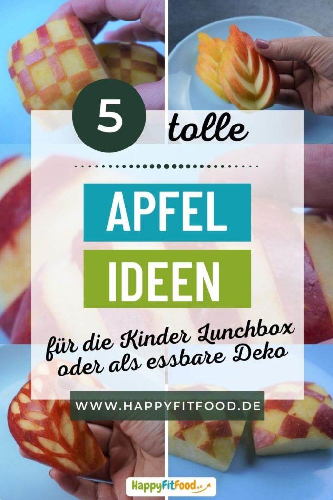 Apfel schneiden 5 tolle Ideen für essbare Deko in Kinder Lunchbox oder Buffet