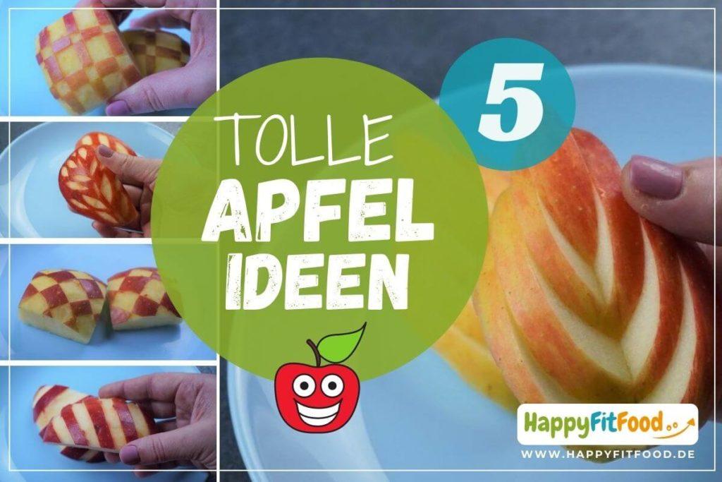 Apfel schneiden 5 tolle deko Ideen für Kinder Bento Box, Lunchbox oder Buffet