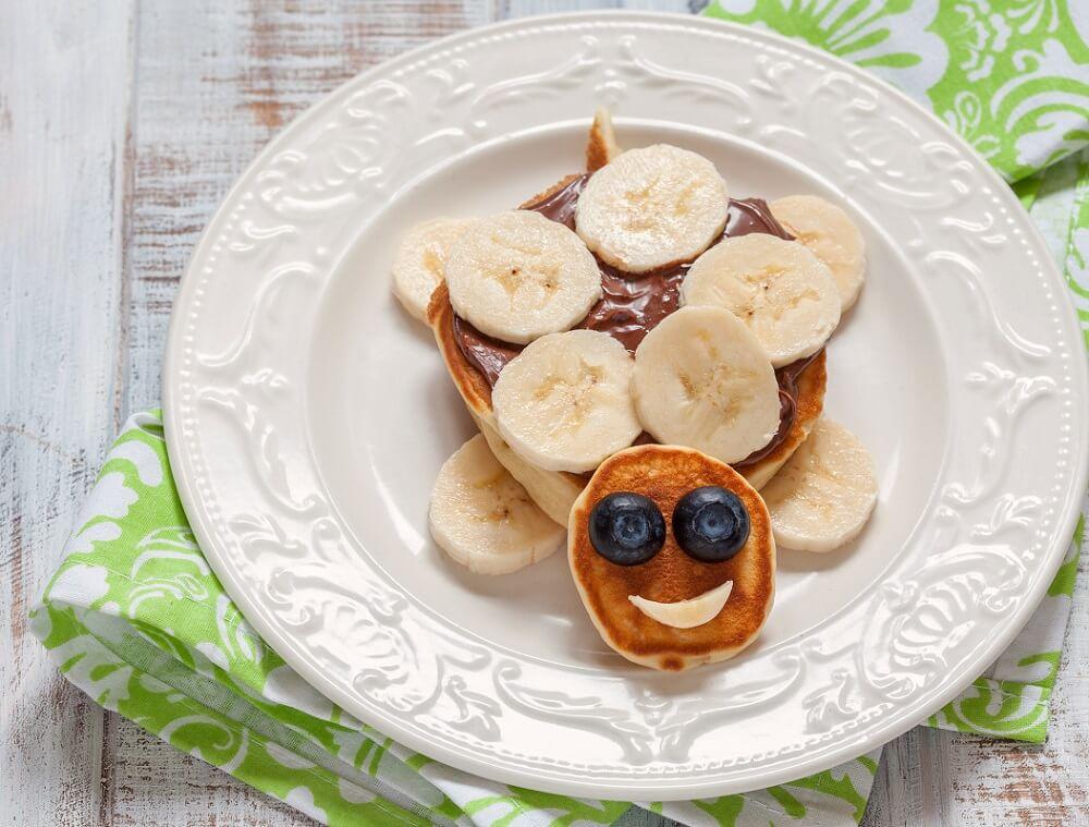 Eierpfannkuchen Schildkröte für Kinder lustig dekoriert
