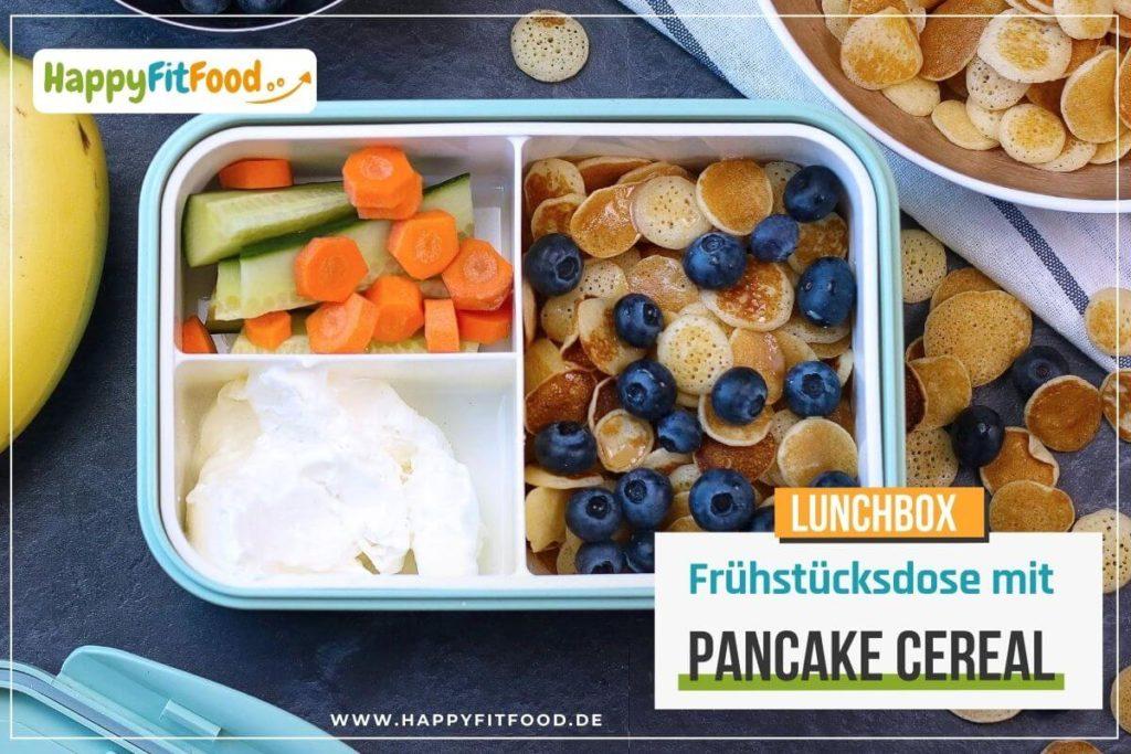 Frühstücks Pancakes in der Pausendose oder Lunchbox mit Pancake Cereal