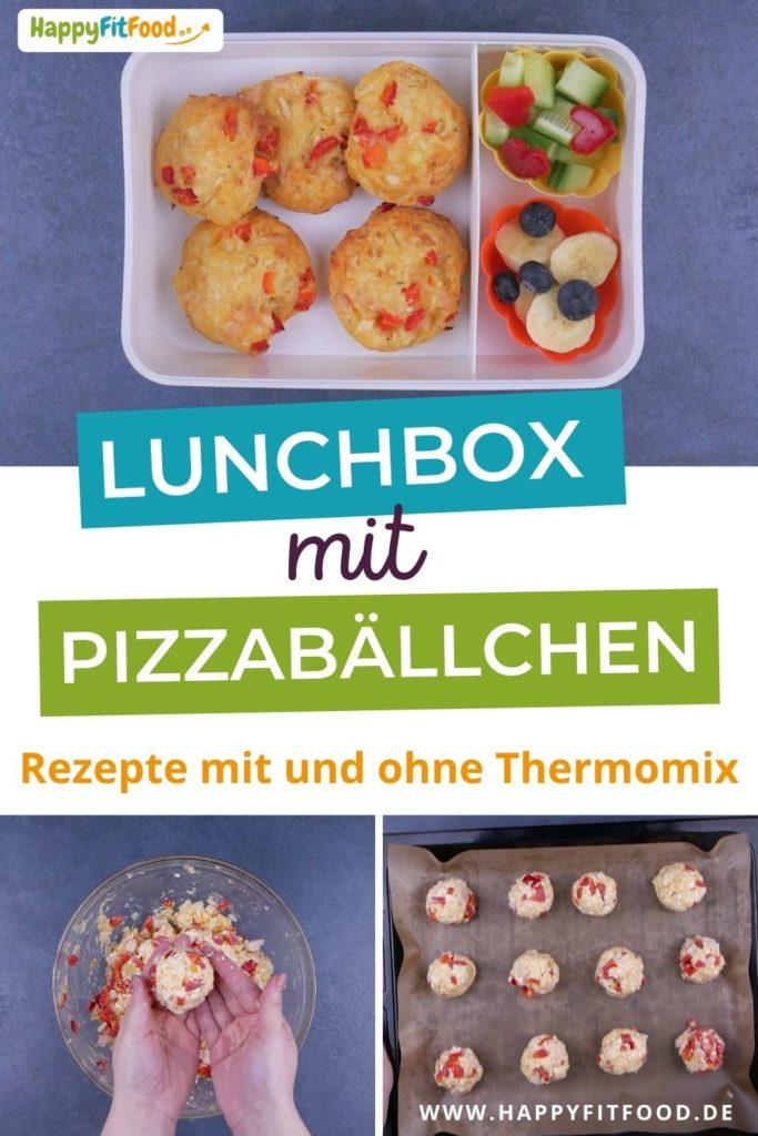 Lunchbox Idee mit Pizzabällchen für das Essen to go zur Schule oder Arbeit