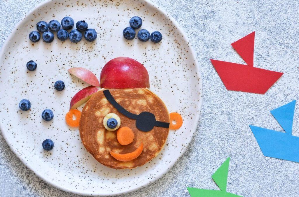 Pfannkuchen Pirat Eierpfannkuchen für Kinder kreative Idee
