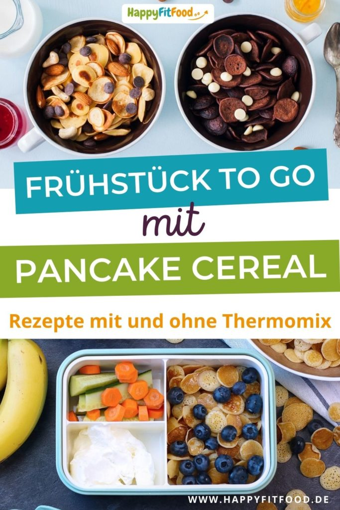 Frühstücks Pancakes Essen to go Meal Prep Frühstück