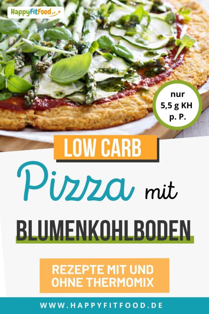 Blumenkohl Pizzaboden Low Carb mit und ohne Thermomix Rezept