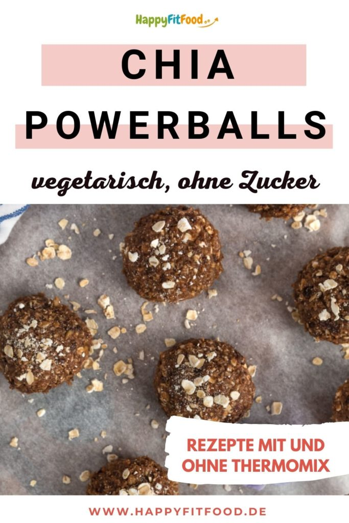 Energiebällchen Rezept für Chia Powerballs vegetarisch und ohne Zucker