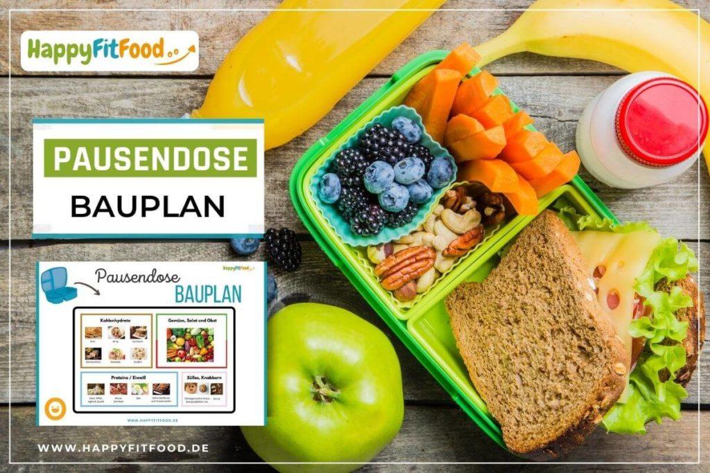 Gesunde Kinder Pausensnacks Bauplan für die Pausendose zum herunterladen