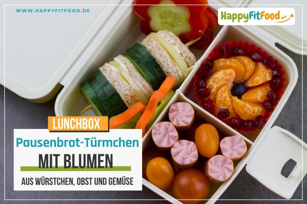 Lunchbox Pausenbrot ausgewogene Idee für Kinder Schulpause oder Essen für die Arbeit mit Pausenbrot Türmchen