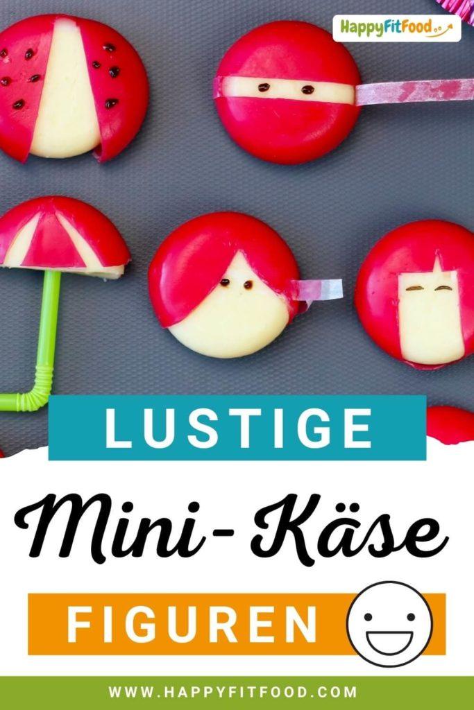 Mini Käse Figuren als lustiger Kinder Snack selber machen