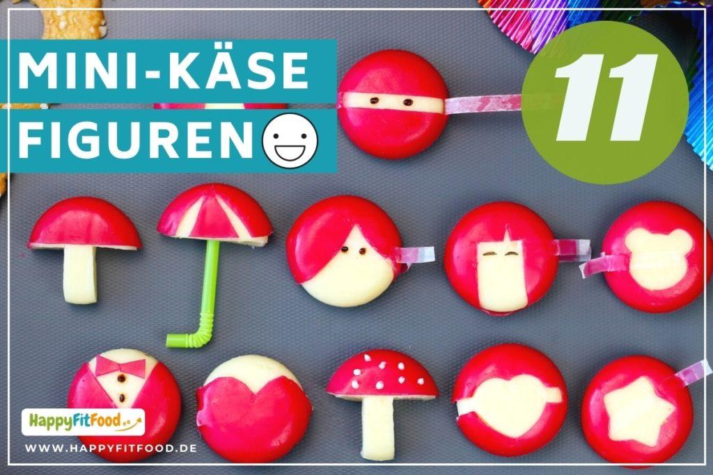 Mini Käse Figuren für Kinder Lunchbox lustig gestaltet mit Babybel Ninja