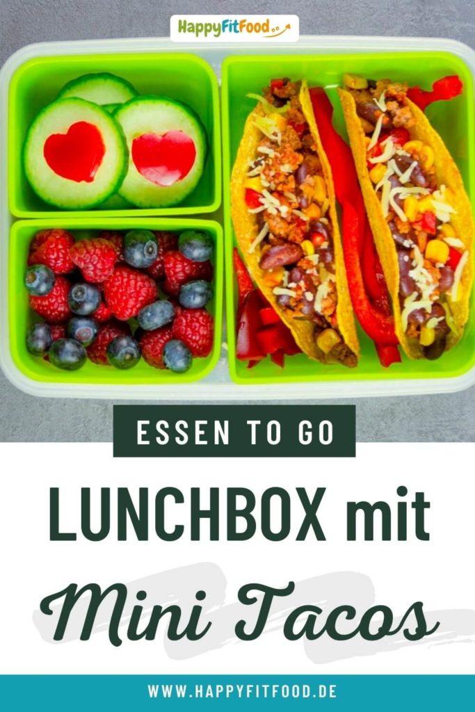 Tacos mit Hackfleisch Lunchbox für das Essen zum Mitnehmen für Arbeit, Schule oder Uni