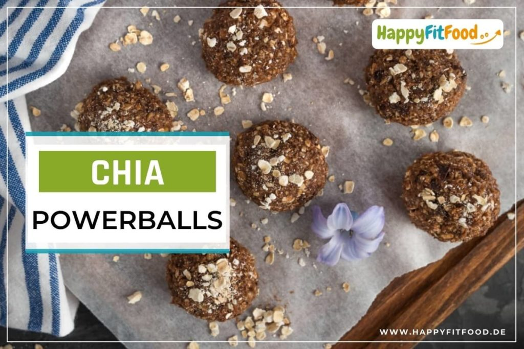 Energiebällchen Rezept Chia Powerballs dunkel mit Haferflocken
