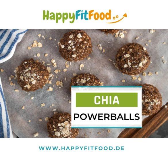 Energiebällchen Rezept für Chia Powerballs ohne Zucker und ohne Datteln