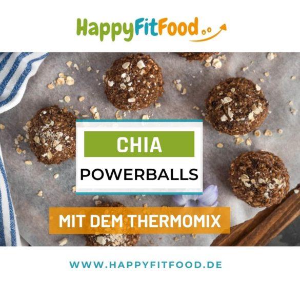Thermomix Rezept Energiebällchen Chia Powerballs ohne Datteln