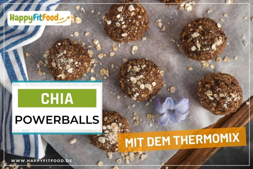 Thermomix Rezept Energiebällchen Chia Powerballs ohne Zucker