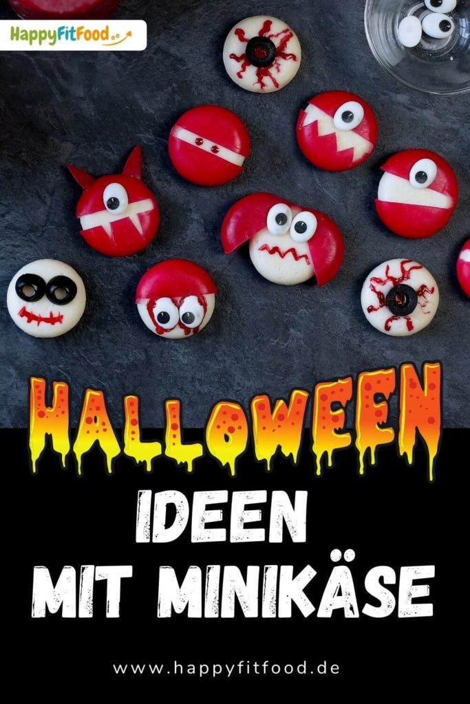Halloween Babybel Ideen für Kinder Monster und Zombies