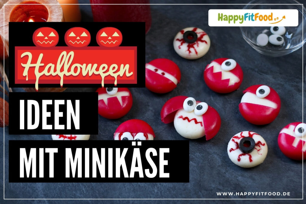 Halloween Monsterideen aus Babybel Mini-Käse für Kinder
