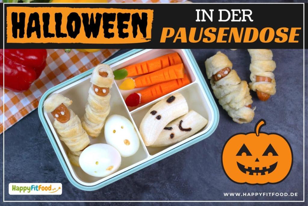 Halloween Party Häppchen für Kinder in der Pausendose