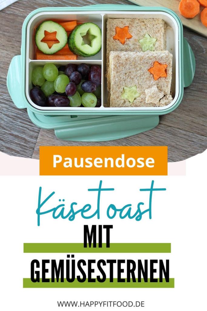 Pausendose Kinder Lunchbox Idee Käsetoast mit Gemüsesternen P-Interest PIN