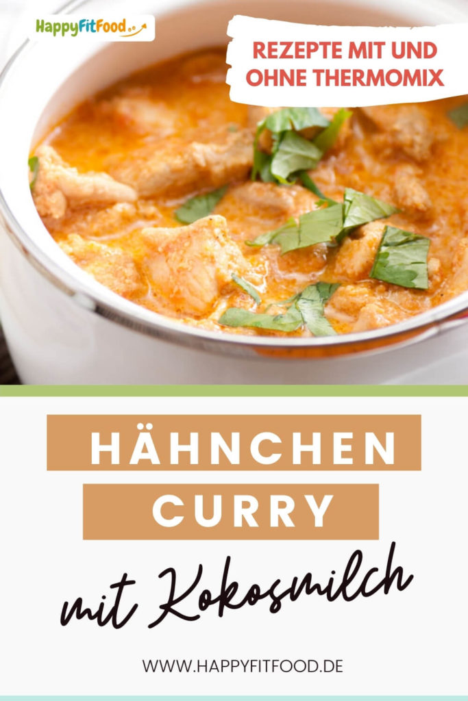 Hähnchen Curry mit Kokosmilch Low Carb Rezept PIN
