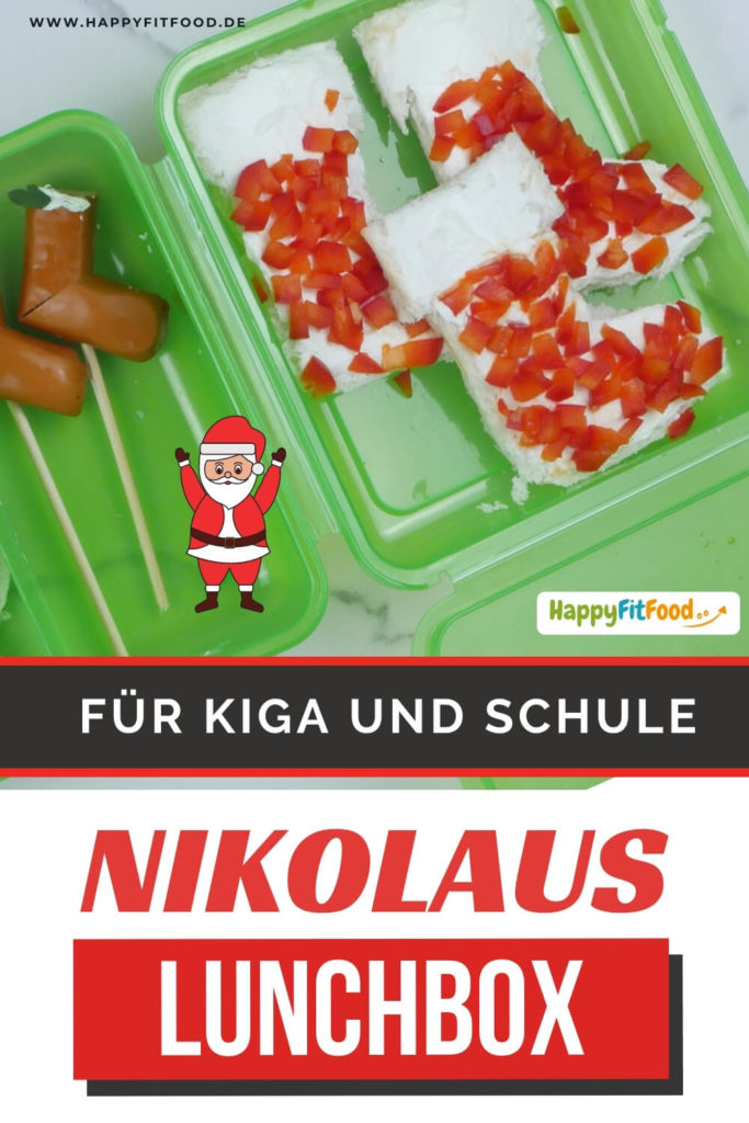 Nikolaus Lunchbox Kinder Weihnachtsmann Snacks PIN
