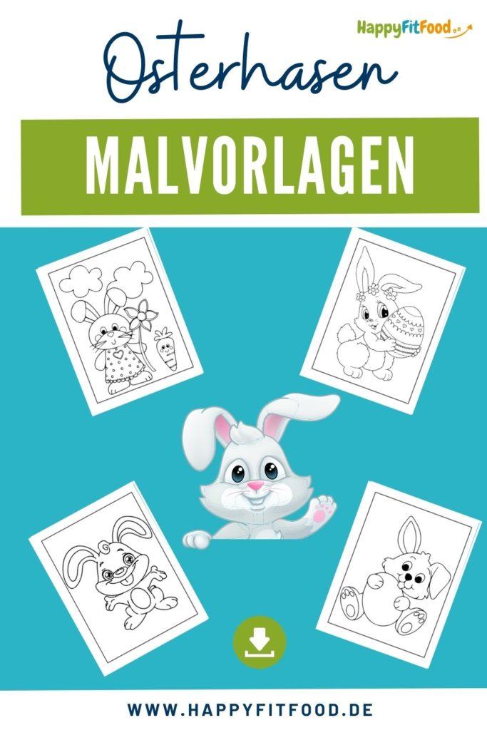 Osterhasen Malvorlagen für Kinder kostenlos herunterladen